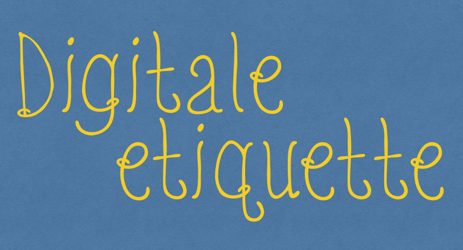 Digitale etiquette deel 5: agenda
